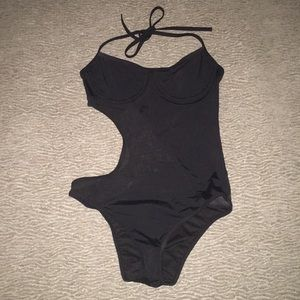 Black Cut-out One Piece